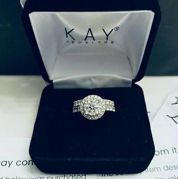 552e055b231ea Kay Jewelers 14k white gold bridal set